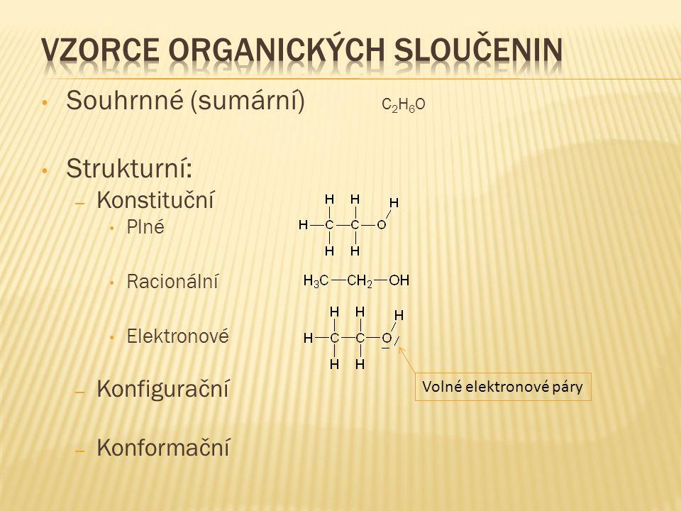 Vzorce organických sloučenin