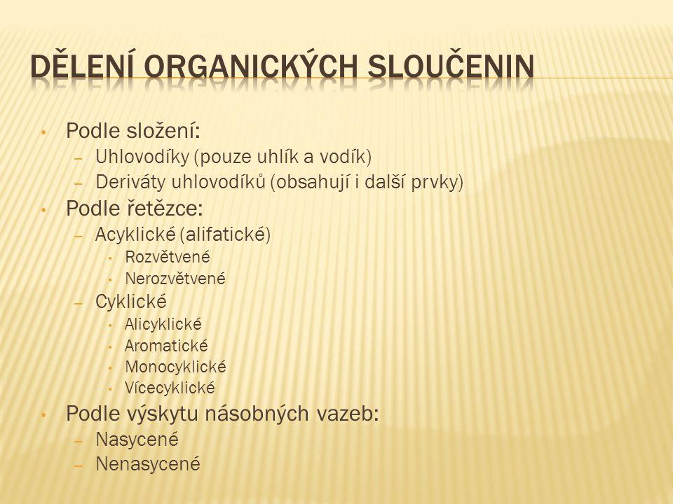 Dělení organických sloučenin