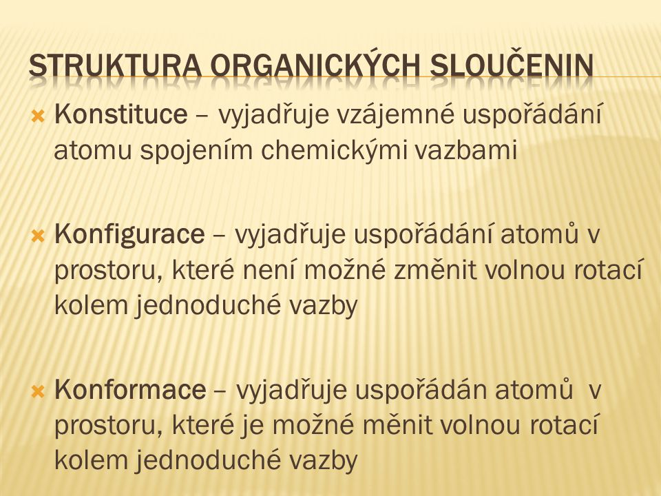 Struktura organických sloučenin