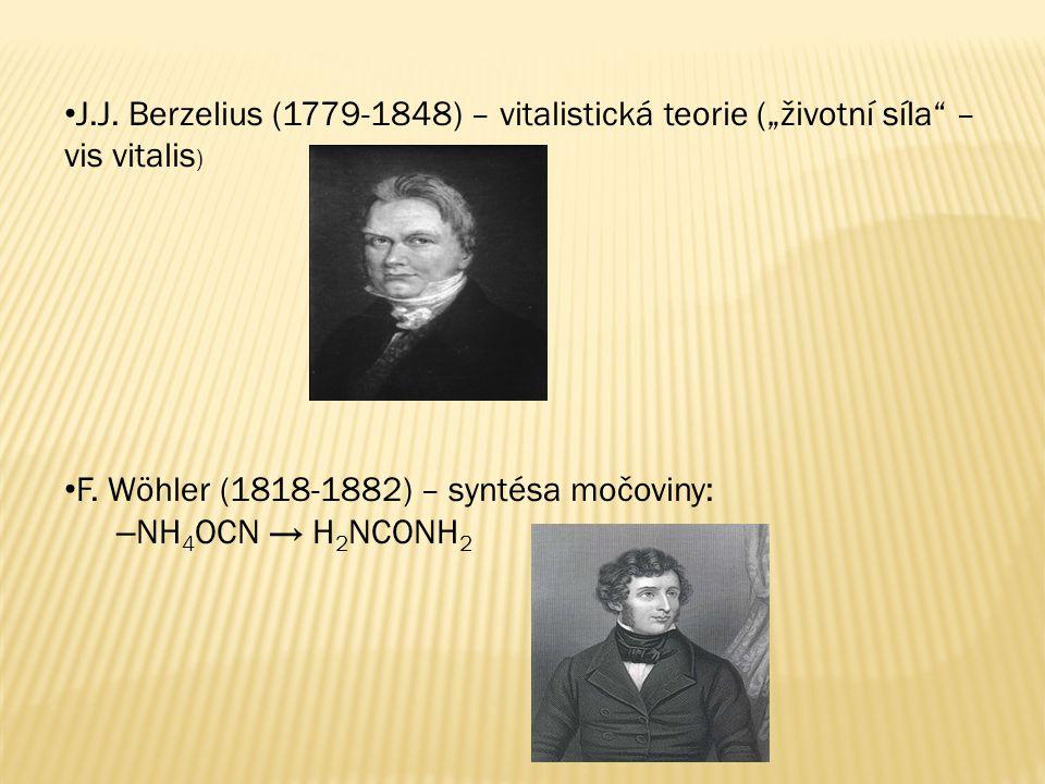 """J.J. Berzelius (1779-1848) – vitalistická teorie (""""životní síla – vis vitalis)"""