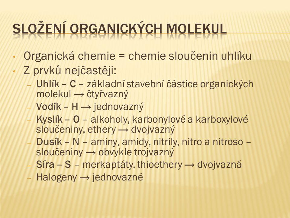 Složení organických molekul