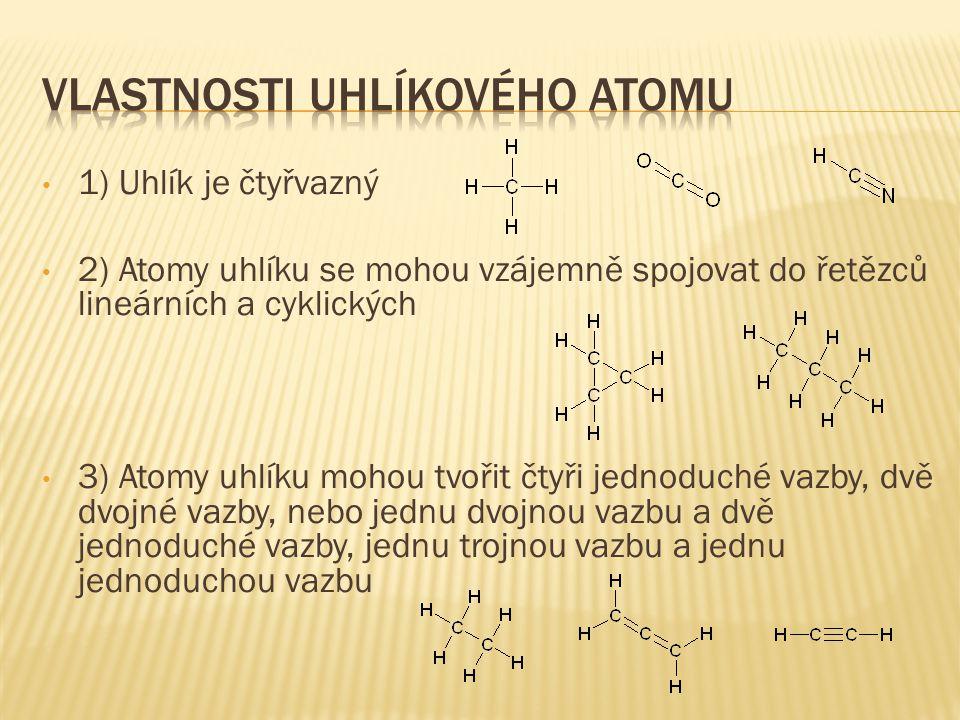 Vlastnosti uhlíkového atomu