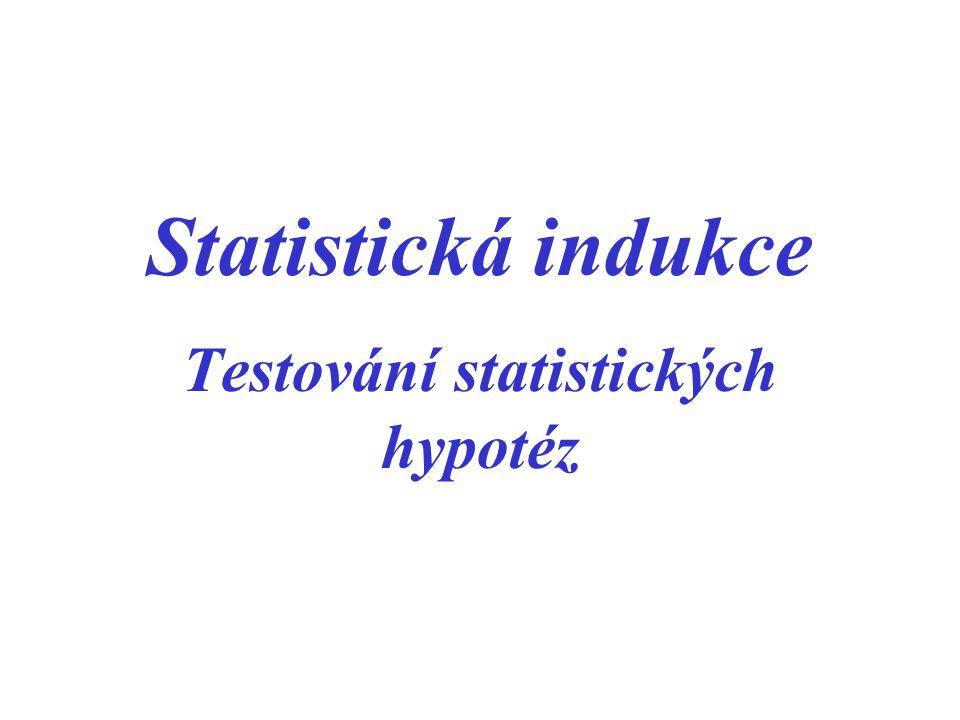 Testování statistických hypotéz