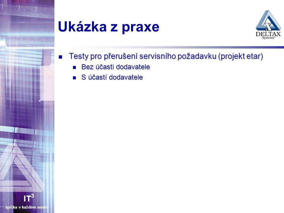 Ukázka z praxe Testy pro přerušení servisního požadavku (projekt etar)