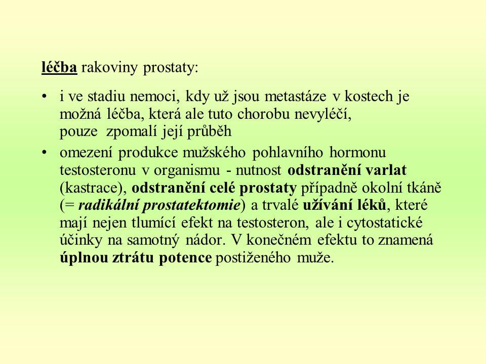 léčba rakoviny prostaty: