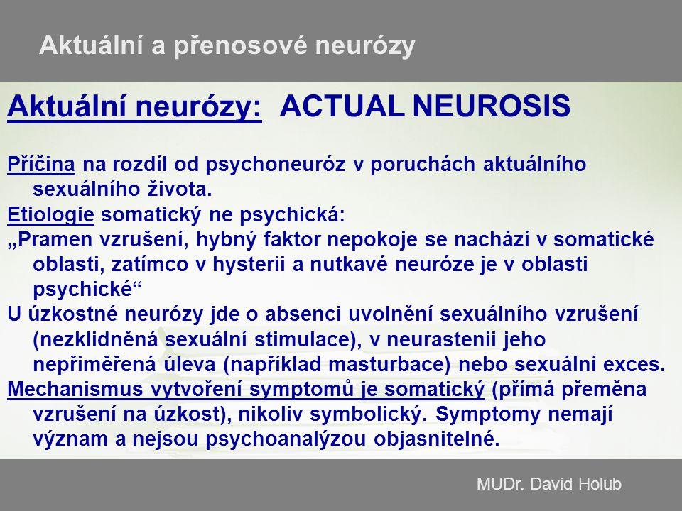 Aktuální neurózy: ACTUAL NEUROSIS