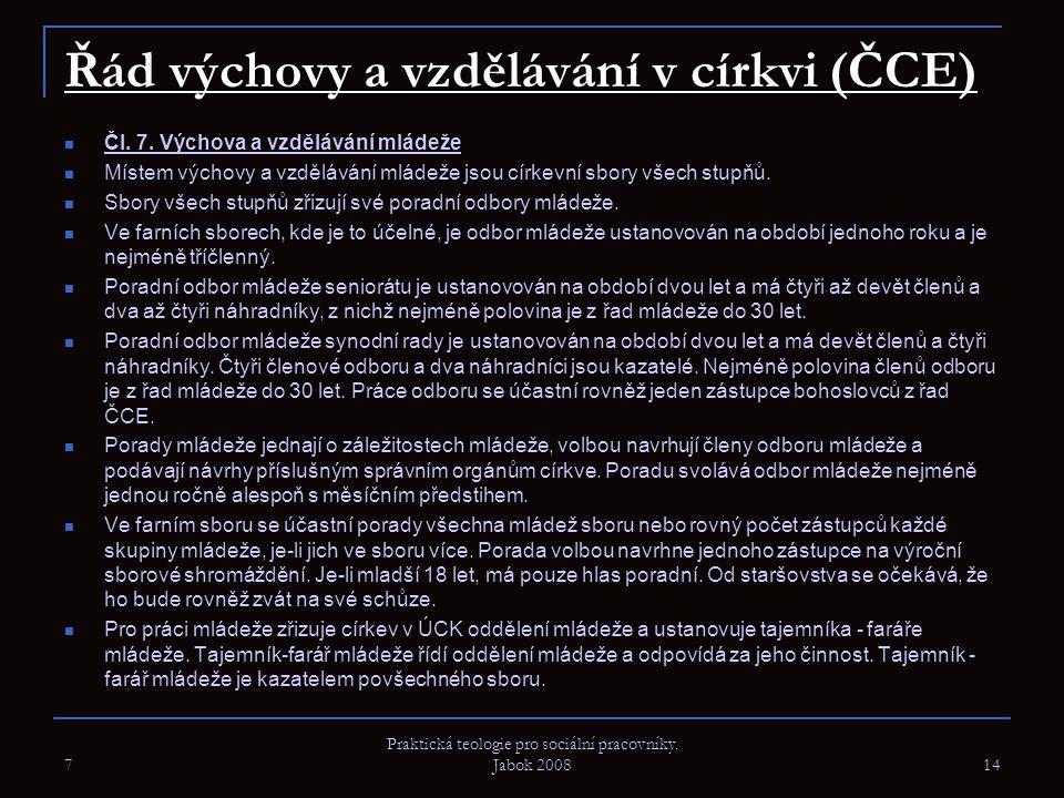 Řád výchovy a vzdělávání v církvi (ČCE)