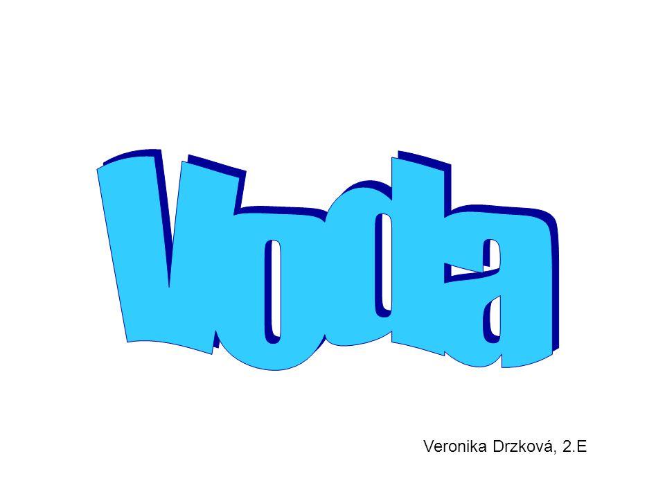 Voda Veronika Drzková, 2.E