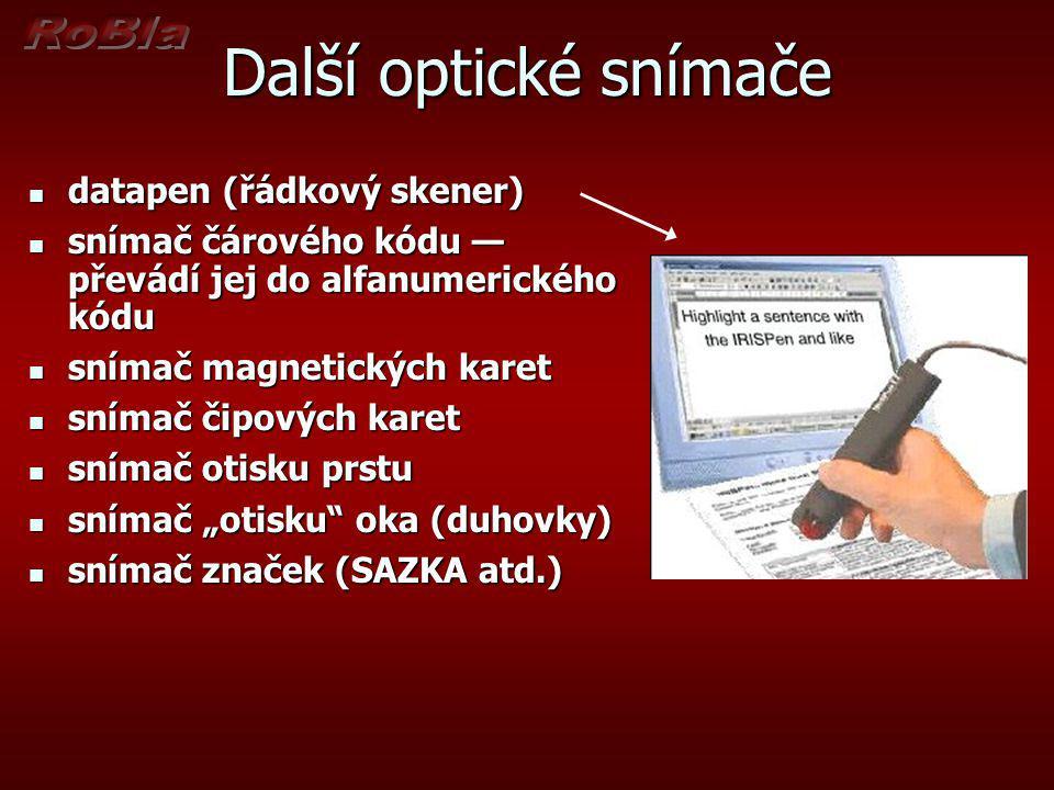 Další optické snímače datapen (řádkový skener)