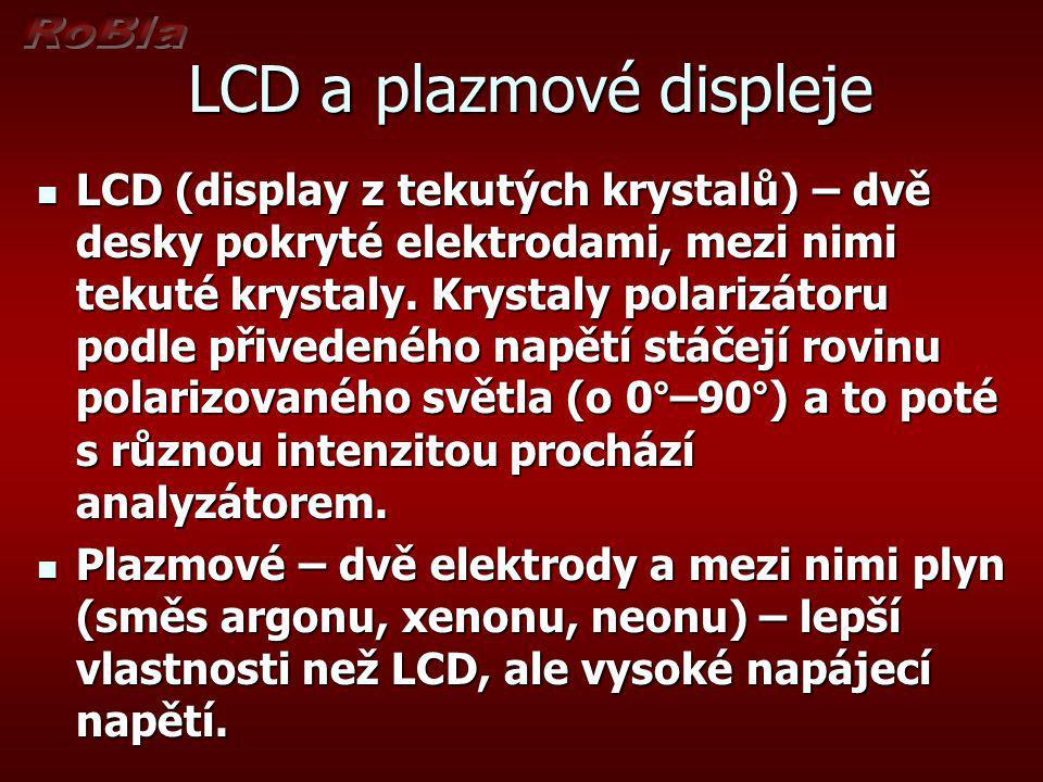LCD a plazmové displeje