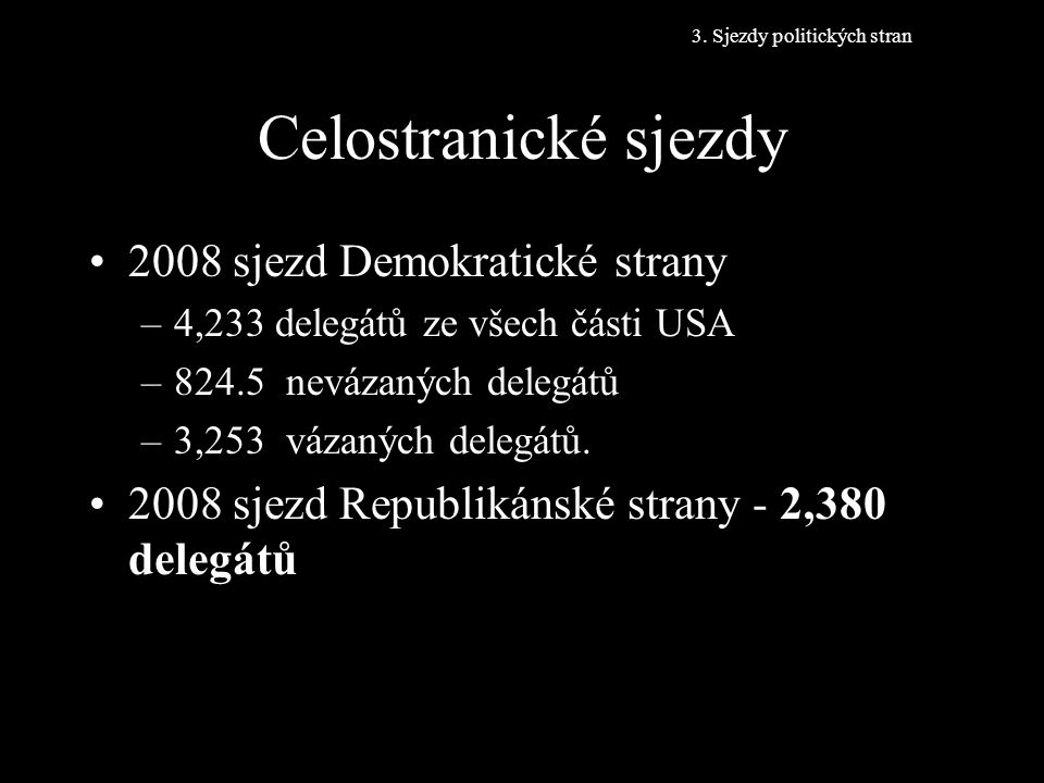Celostranické sjezdy 2008 sjezd Demokratické strany