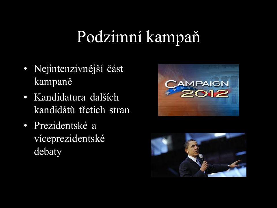Podzimní kampaň Nejintenzivnější část kampaně