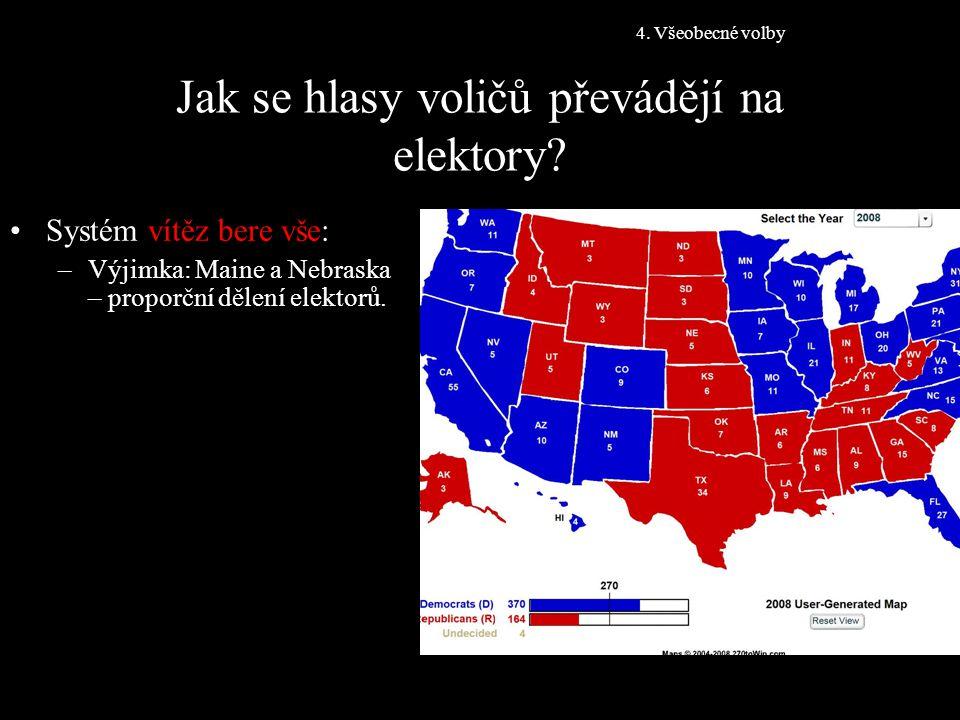 Jak se hlasy voličů převádějí na elektory