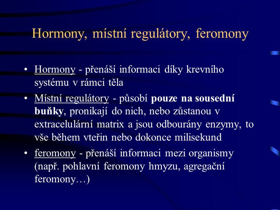 Hormony, místní regulátory, feromony