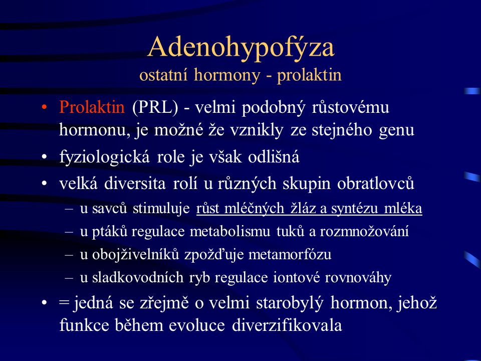 Adenohypofýza ostatní hormony - prolaktin