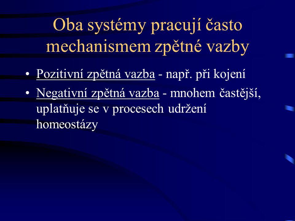 Oba systémy pracují často mechanismem zpětné vazby
