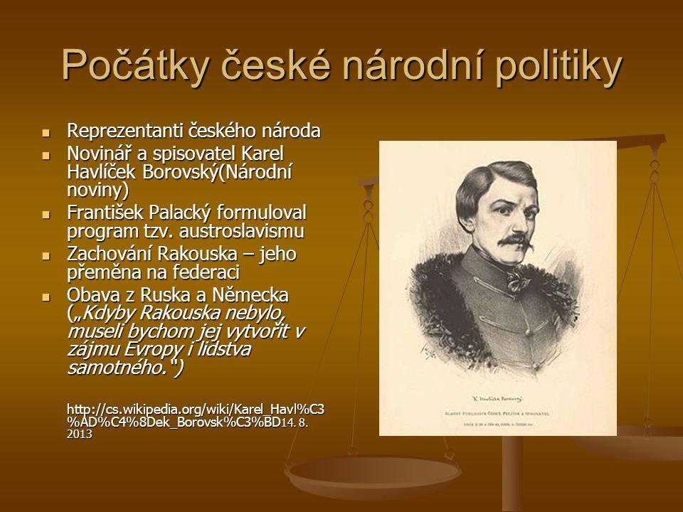 Počátky české národní politiky