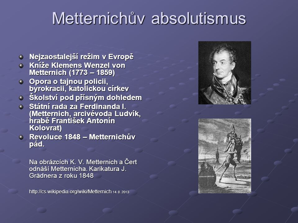 Metternichův absolutismus