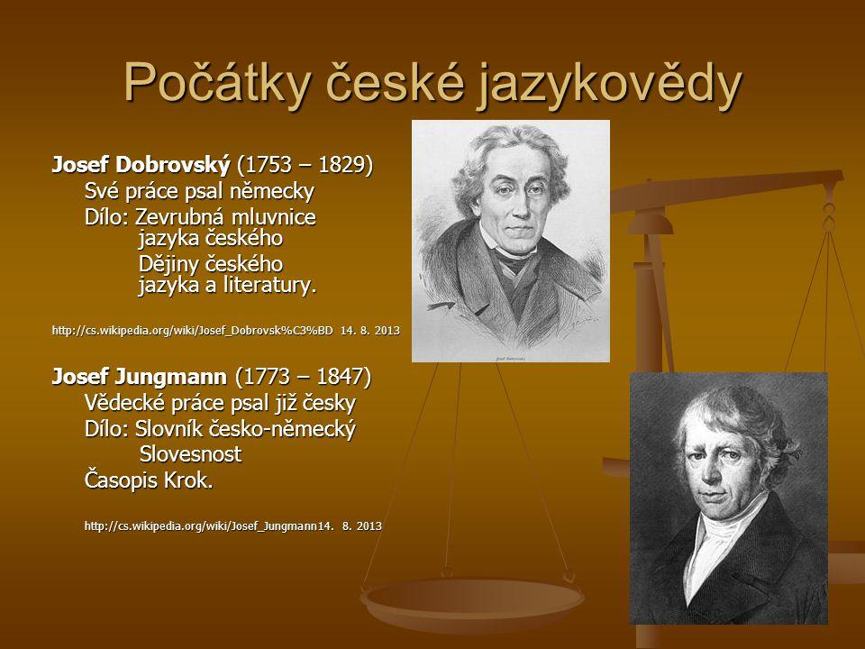Počátky české jazykovědy