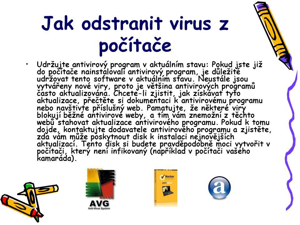 Jak odstranit virus z počítače
