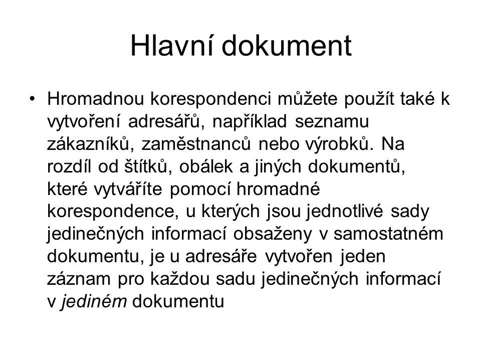 Hlavní dokument
