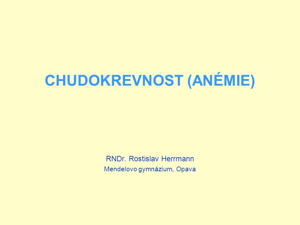 CHUDOKREVNOST (ANÉMIE)