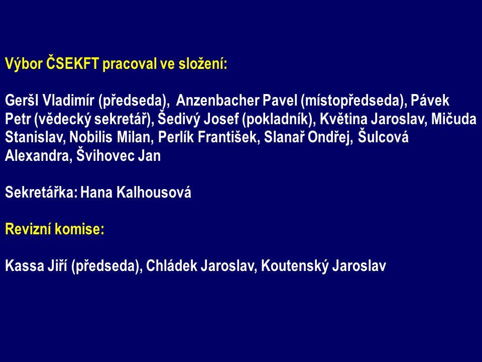 Výbor ČSEKFT pracoval ve složení: