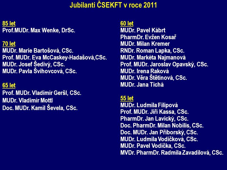 Jubilanti ČSEKFT v roce 2011
