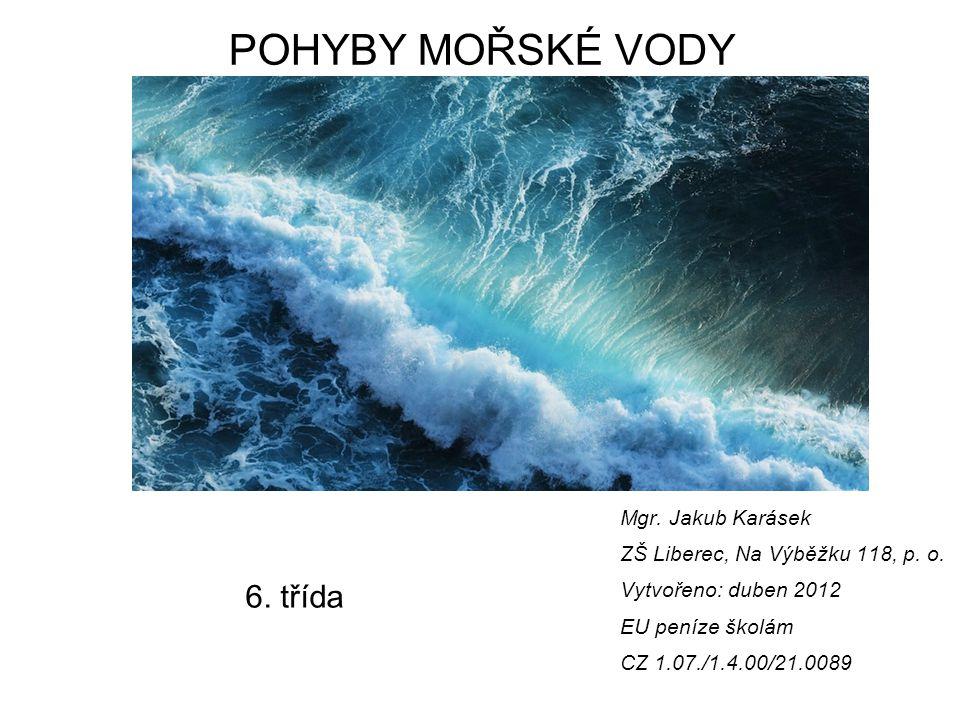 POHYBY MOŘSKÉ VODY 6. třída Mgr. Jakub Karásek