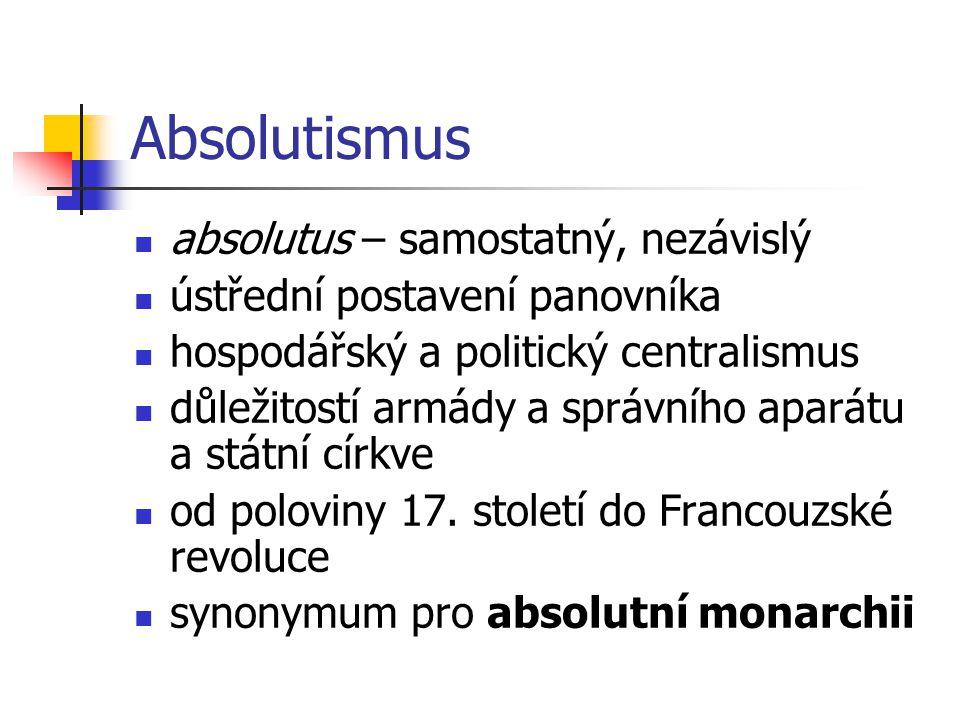 Absolutismus absolutus – samostatný, nezávislý