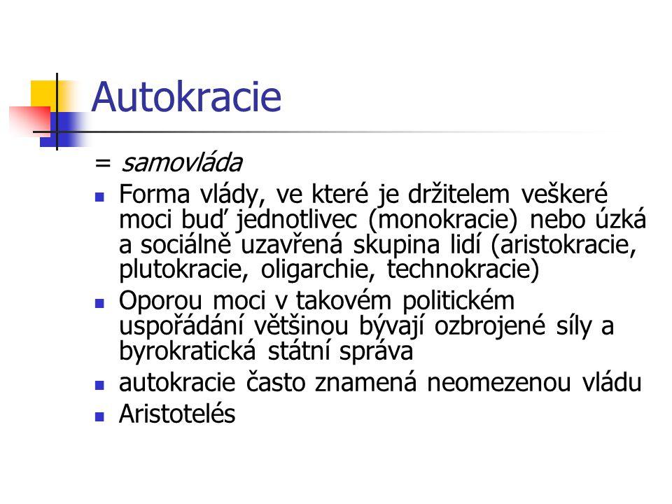 Autokracie = samovláda