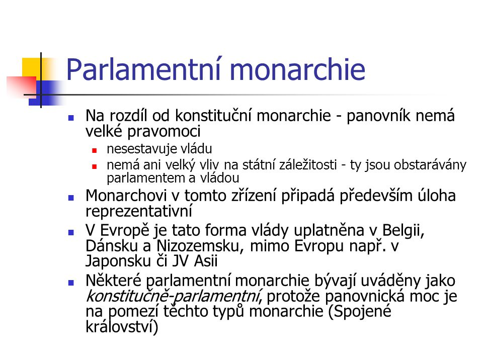 Parlamentní monarchie