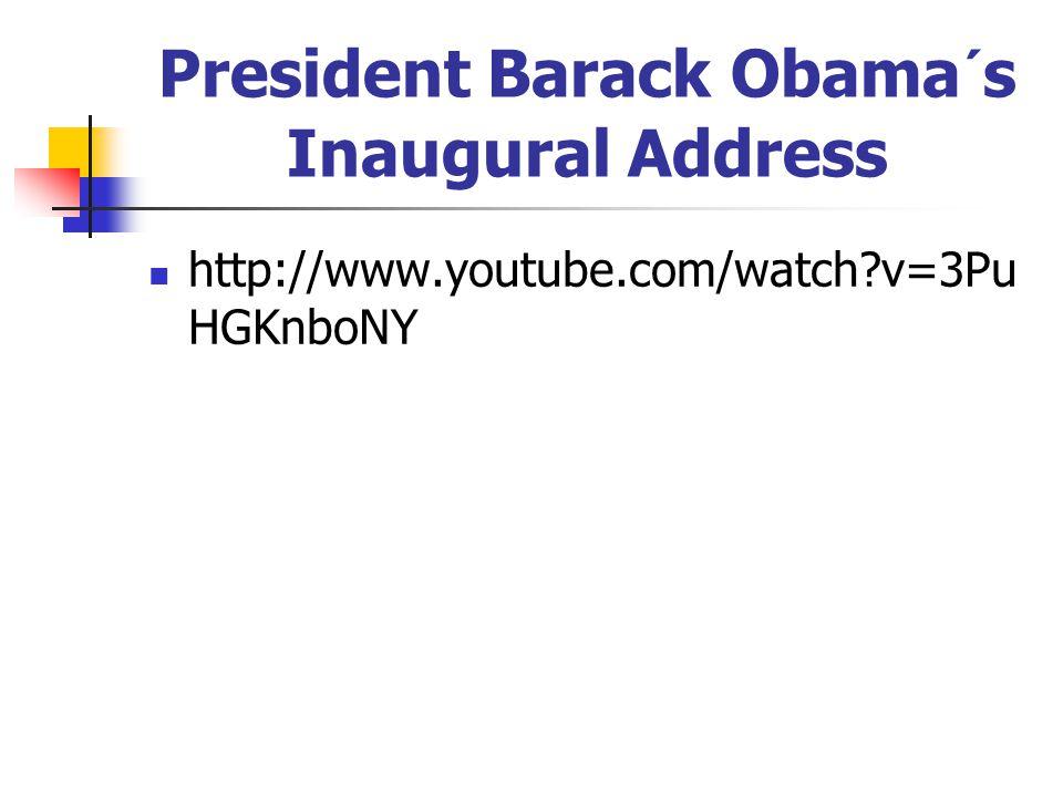 President Barack Obama´s Inaugural Address