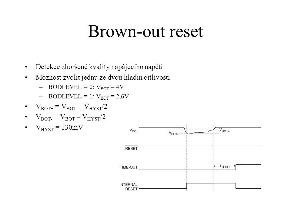 Brown-out reset Detekce zhoršené kvality napájecího napětí