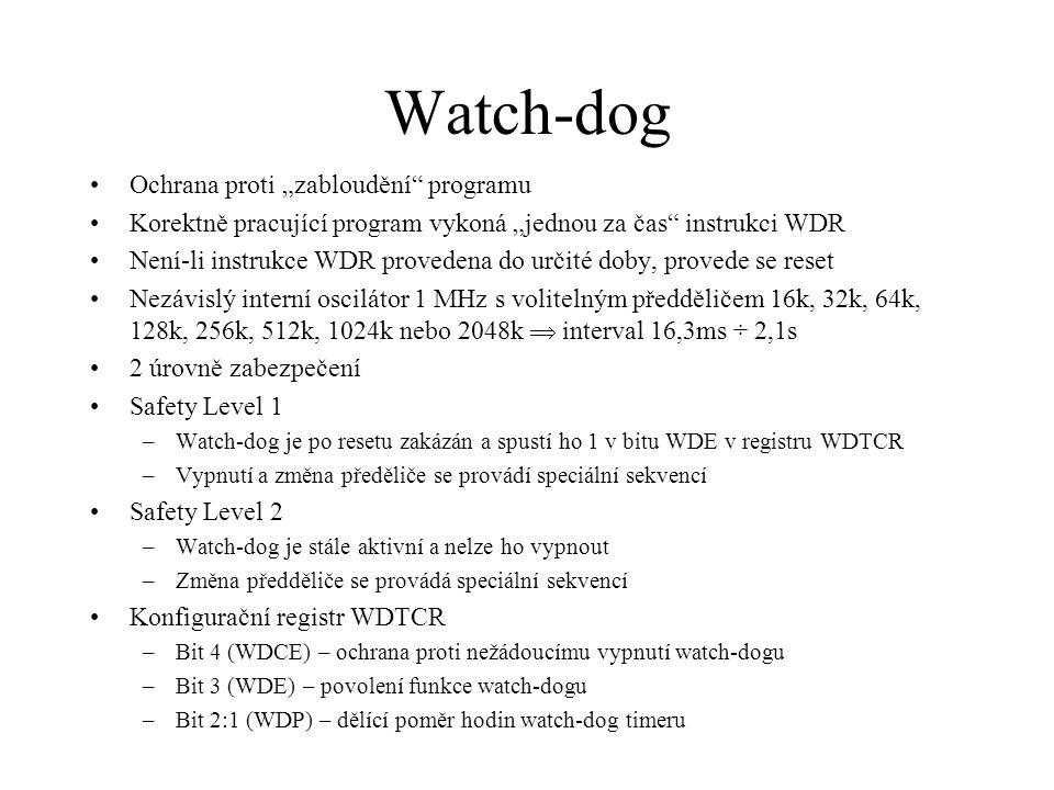 """Watch-dog Ochrana proti """"zabloudění programu"""