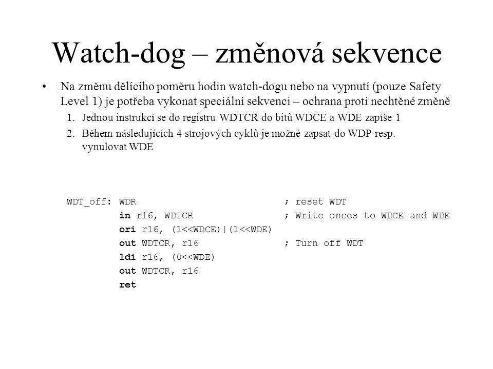 Watch-dog – změnová sekvence