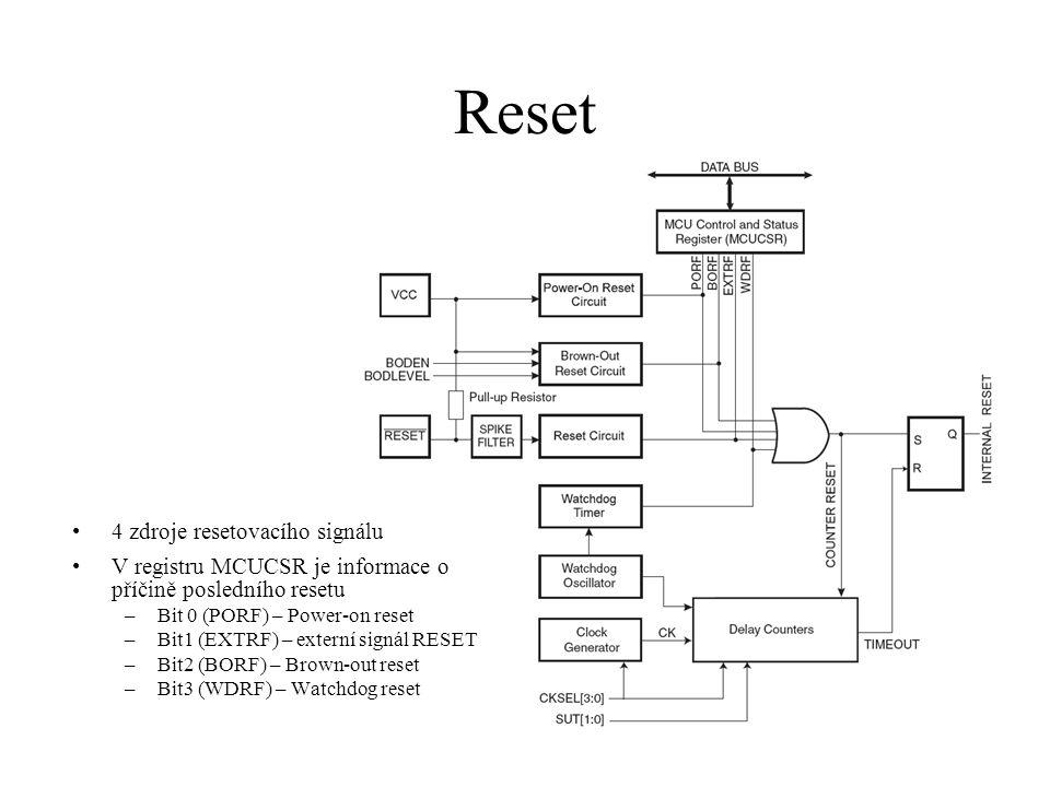 Reset 4 zdroje resetovacího signálu