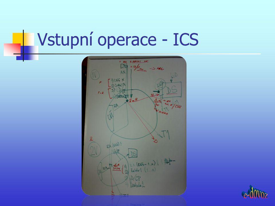 Vstupní operace - ICS e-dovoz
