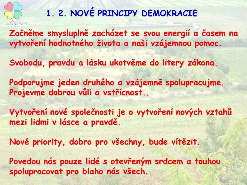 1. 2. NOVÉ PRINCIPY DEMOKRACIE