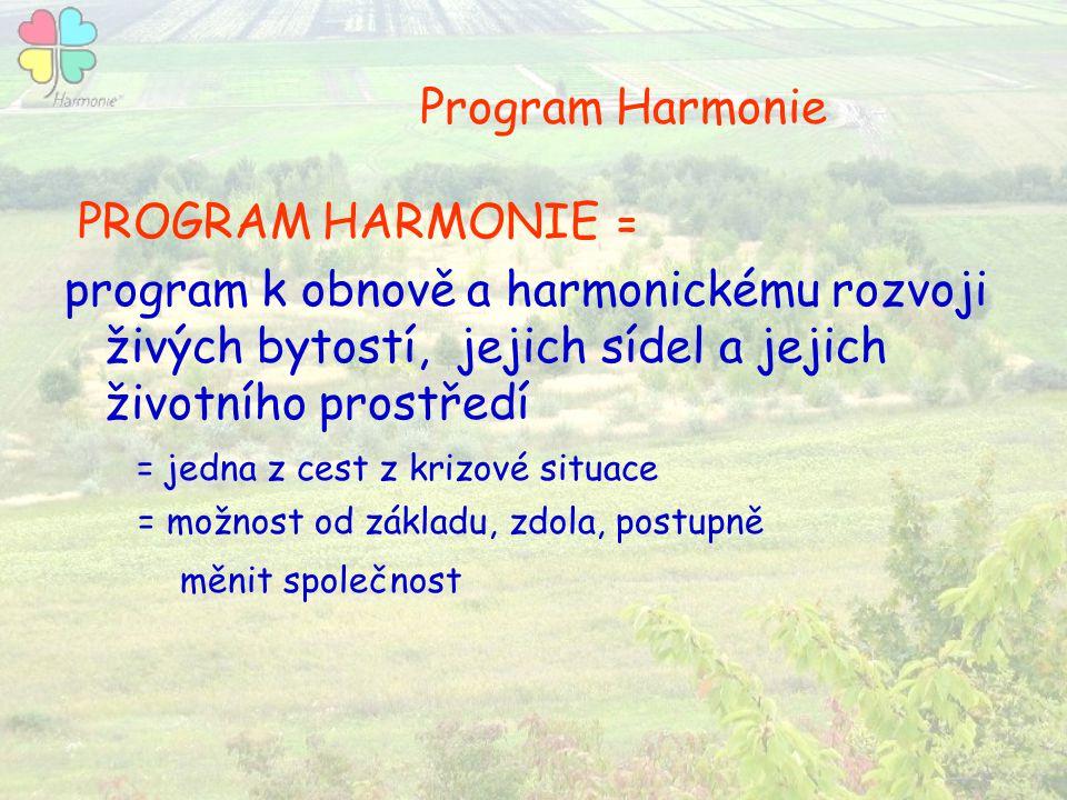 Program Harmonie PROGRAM HARMONIE =