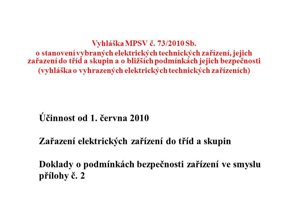 (vyhláška o vyhrazených elektrických technických zařízeních)