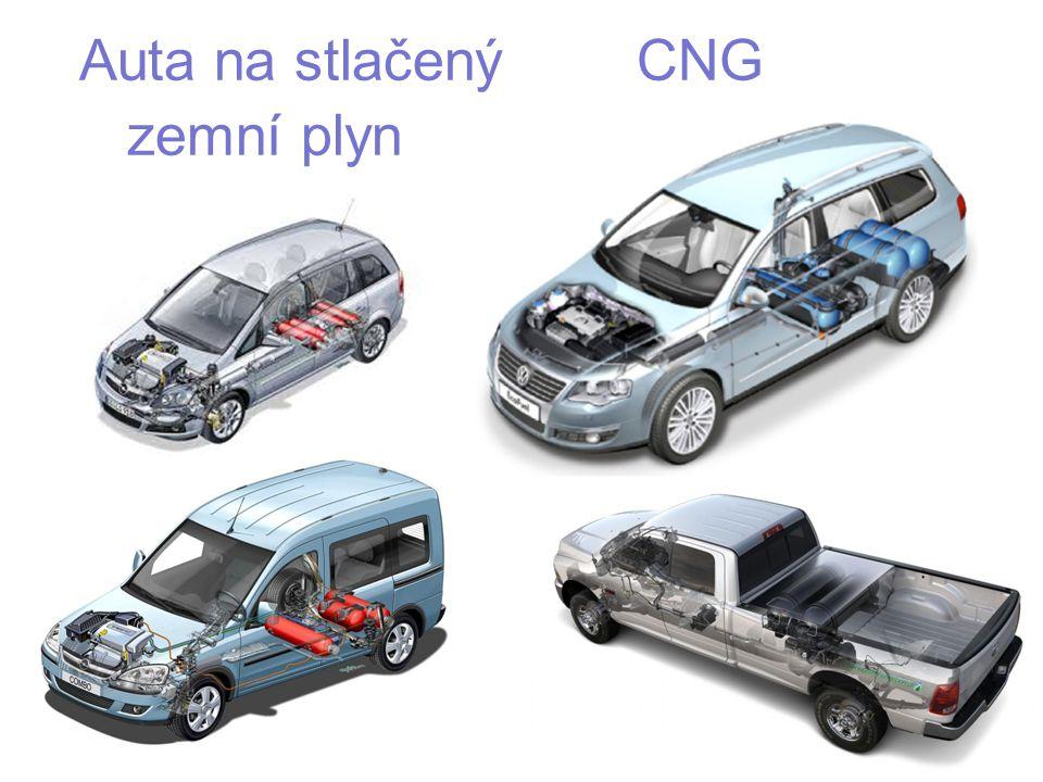 Auta na stlačený CNG zemní plyn