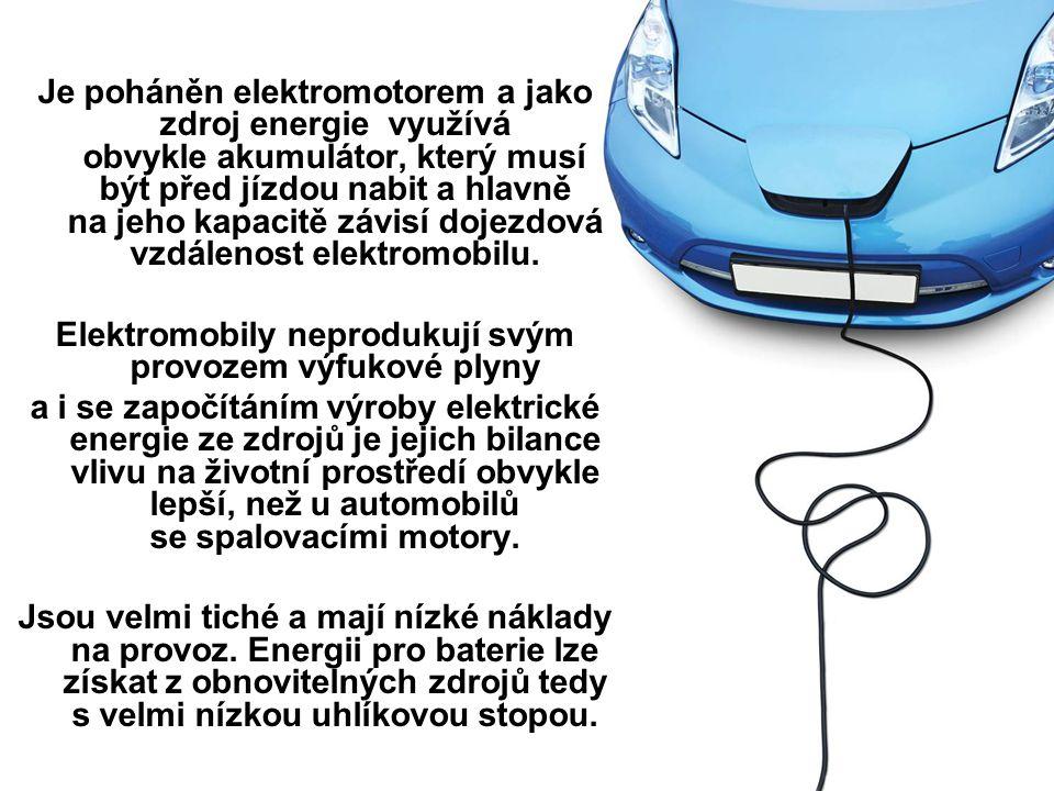 Elektromobily neprodukují svým provozem výfukové plyny