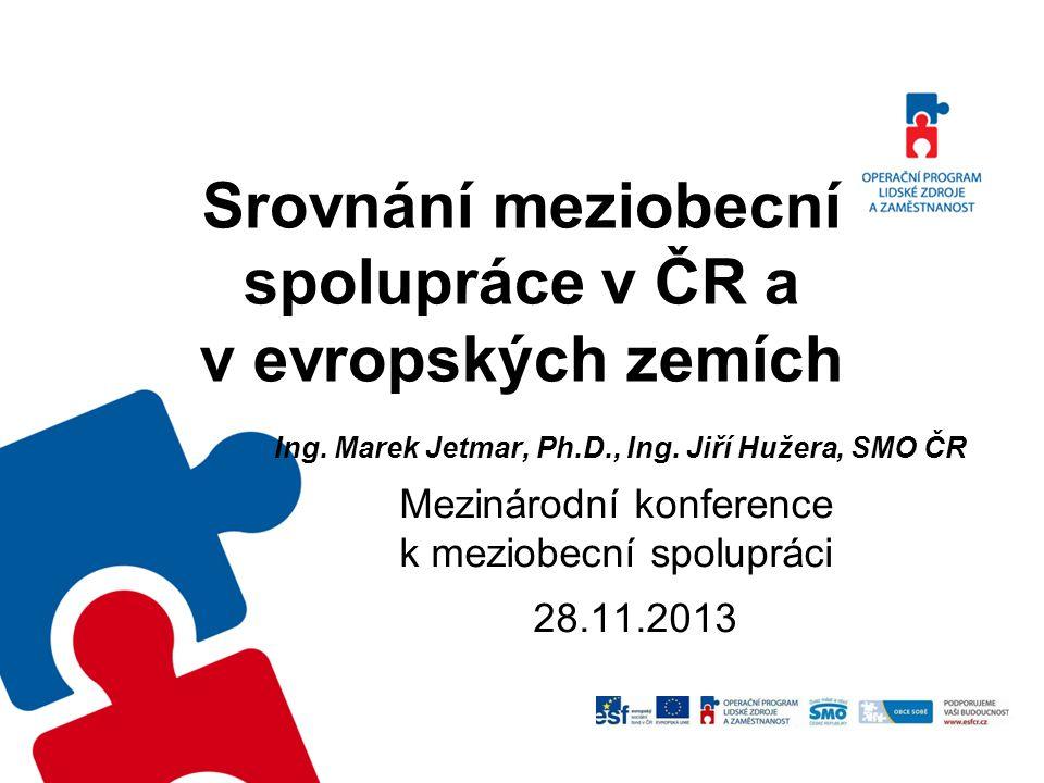 Srovnání meziobecní spolupráce v ČR a v evropských zemích