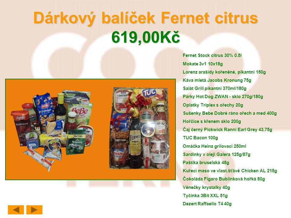 Dárkový balíček Fernet citrus 619,00Kč