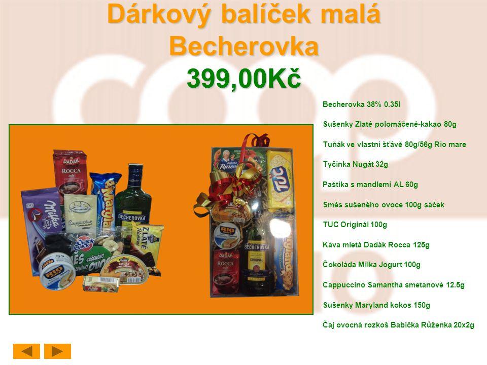 Dárkový balíček malá Becherovka 399,00Kč
