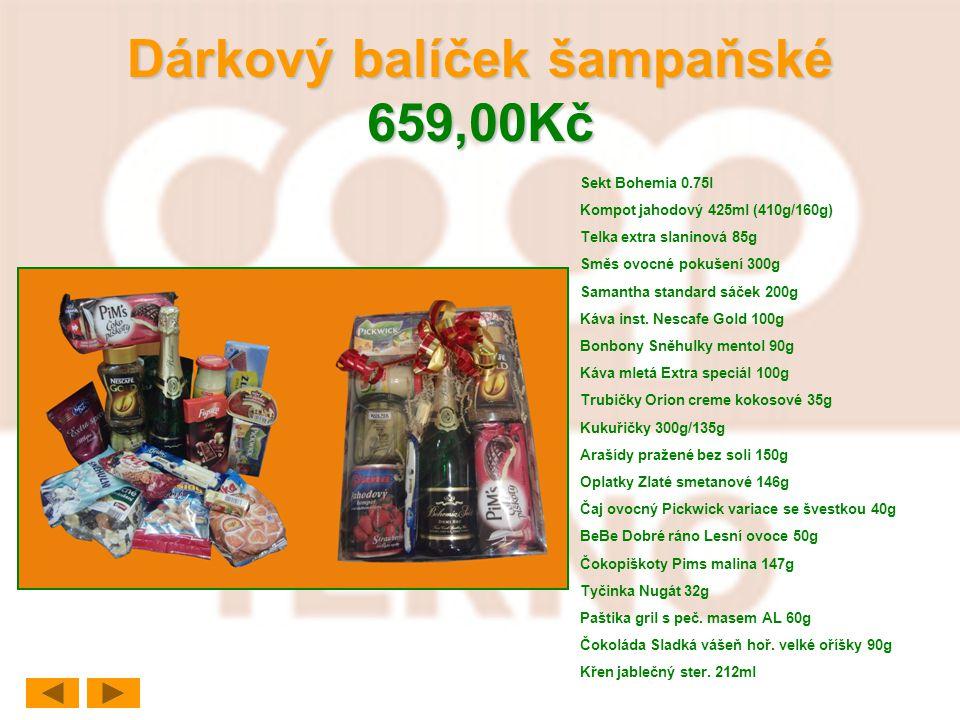 Dárkový balíček šampaňské 659,00Kč