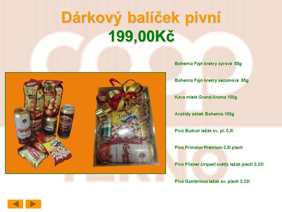 Dárkový balíček pivní 199,00Kč