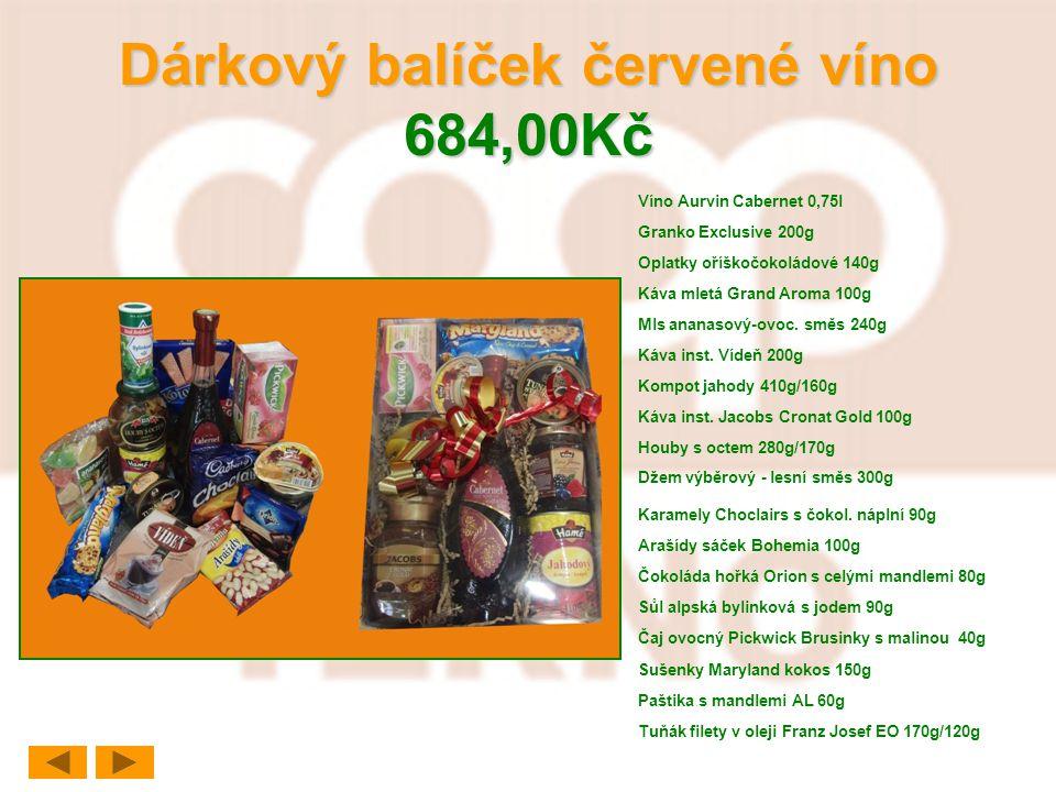 Dárkový balíček červené víno 684,00Kč