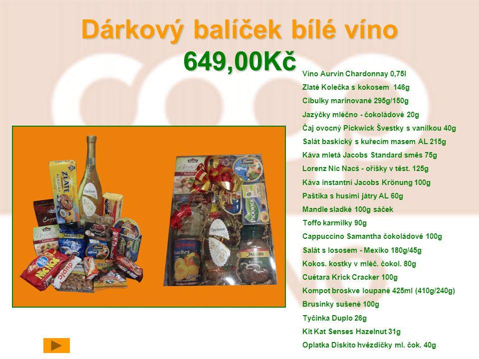 Dárkový balíček bílé víno 649,00Kč